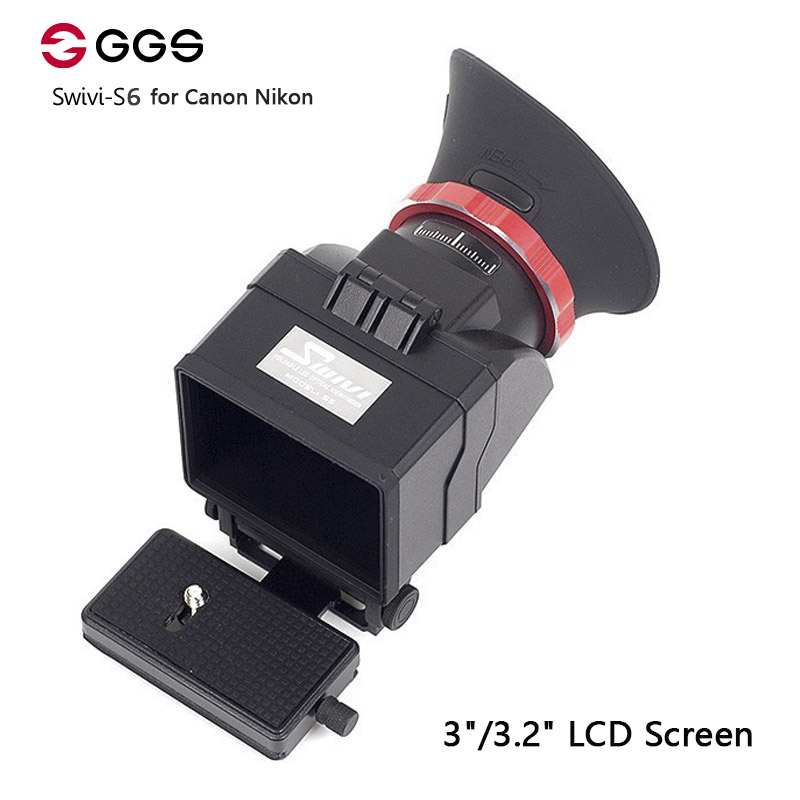 GGS Swivi S6 Viewfinder with 3/3.2 LCD Screen for Canon 5D2 5D3 6D 7D 70D 750D 760D for Nikon D7000 D7200 D750 D610 D810 D800