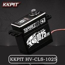 ใหม่KKPIT HV CLS 1025 25กก.7.4V 0.08Sแรงดันไฟฟ้ากันน้ำIPX6ดิจิตอลSERVOสำหรับRC BuggyรถบรรทุกCrawler Scale