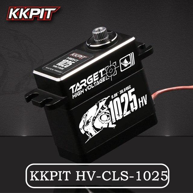 KKPIT HV CLS 1025 SERVO DIGITAL resistente al agua IPX6 de Metal de alta tensión, 25KG, 7,4 V, 0,08 s, para Buggy de control remoto, camión monstruo, escala sobre orugas