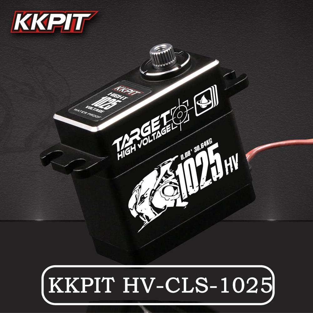 NEW KKPIT HV-CLS-1025 25KG 7.4V 0.08s high voltage Metal Waterproof IPX6 DIGITAL SERVO for RC Buggy Monster truck Crawler Scale jx pdi 5521mg 20kg high torque metal gear digital servo for rc model