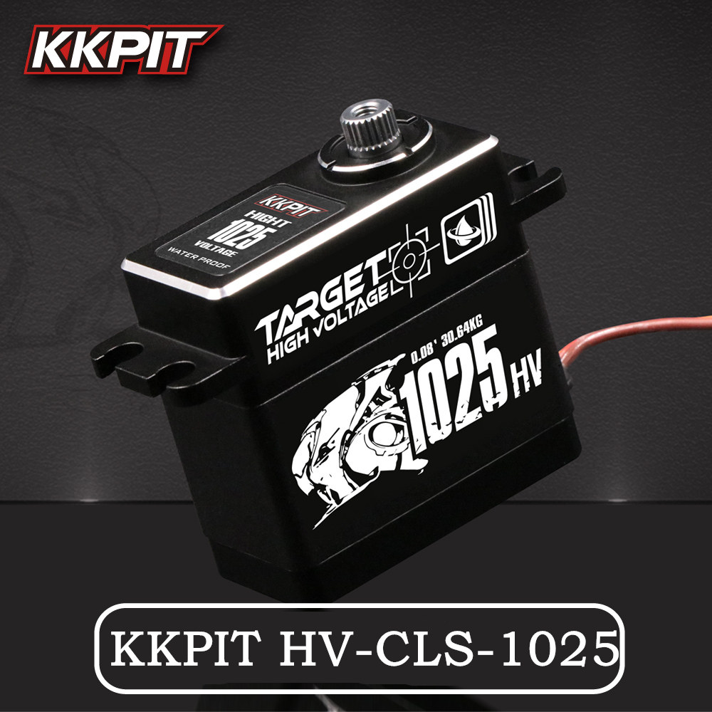 NUOVO KKPIT HV-CLS-1025 25 kg 7.4 v 0.08 s ad alta tensione del Metallo Impermeabile IPX6 DIGITAL SERVO per RC Buggy Mostro camion Crawler Bilancia
