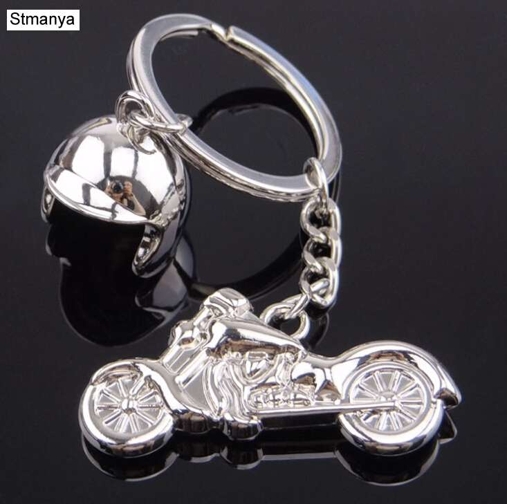Helmet Motorcycle Metal Metal Keychain -  Hot Sale Cute Safety Helmet Knight Hat Car Metal Keychain Bag Key Ring Jewelry 17327