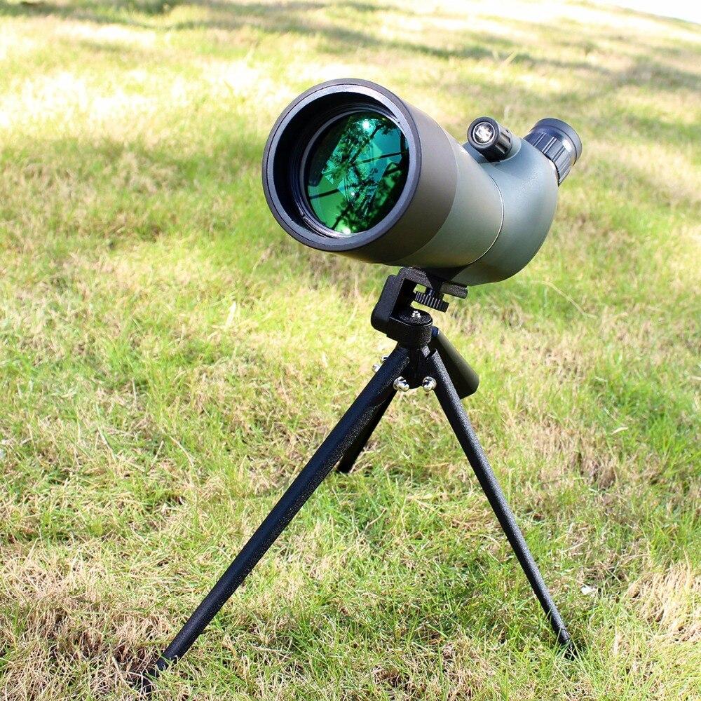 цена на SVBONY SV28 Spotting Scope Zoom 20-60x60 Prism Glass Waterproof Spotting Scope Birdwatch Monocular Telescope+Tripod F9308