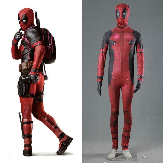 5d15e82e526c76 Cosplay dorosłych MARVEL Superhero Cosplay Deadpool kostium Halloween  kostiumy Onesie Deadpool wysokiej jakości mężczyźni kombinezon odzież