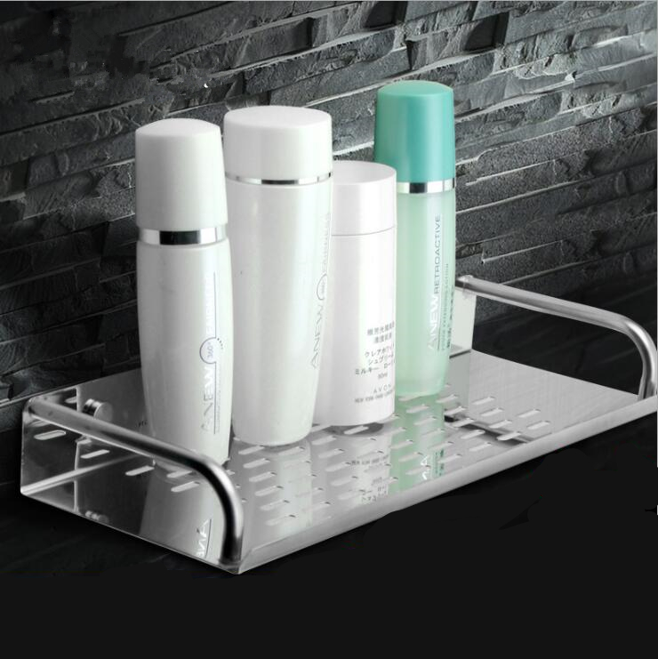 Stainless Steel Chrome Bathroom Shelves Kitchen Wall Shelf Shower Storage Rack Bathroom Accessories 20-60cm Lenght
