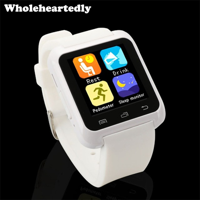US $13 72 |Bluetooth Smart Watch U80 BT notification Anti Lost MTK  WristWatch smartwatchs for iPhone Samsung S4 Note 2 3 IOS Android Phone-in  Smart