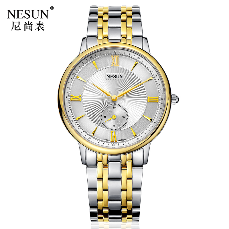 Nesun Switzerland Luxury Brand Watch Men Japan MIYOTA Quartz Movement Men's Watches Stainless Steel Waterproof clock N8501-SM3 nesun switzerland luxury brand watch men japan miyota quartz movement lover s watches full stainless steel women clock n8501 sl3