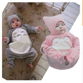 Mamelucos del bebé para niñas ropa de manga larga totoro de dibujos animados bebé bebé ropa bebé recién nacido del mameluco + sombrero niños ropa
