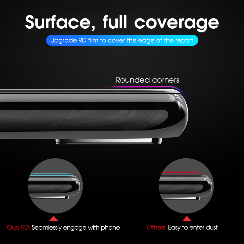 Image 3 - For OnePlus 7 One Plus 7 OnePlus7 Glass 9D Full Cover 9D Tempered Glass + Back Camera lens Film Screen Protector For 1+7 1 Plus7-in Phone Screen Protectors from Cellphones & Telecommunications