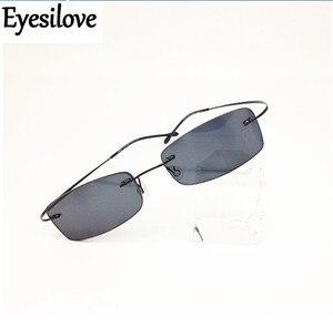 Image 2 - Eyesilove wykończone bez oprawek okulary na krótkowzroczność ultralekkie bezramowe gotowe okulary dla krótkowidzów krótkowzroczność okulary szary kolor
