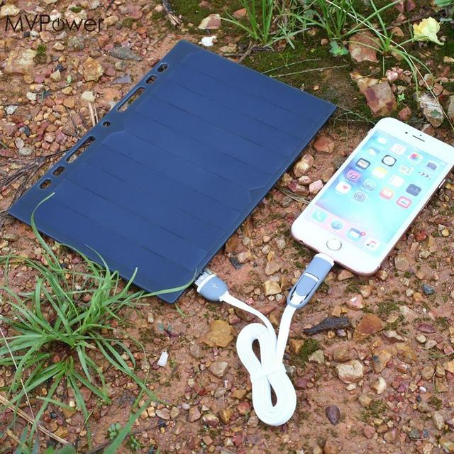 MVpower Portable 5V Solar Power Bank Charging Panel Leaflet A5 Charger USB Mobile Phone Smartphone Solar Cells
