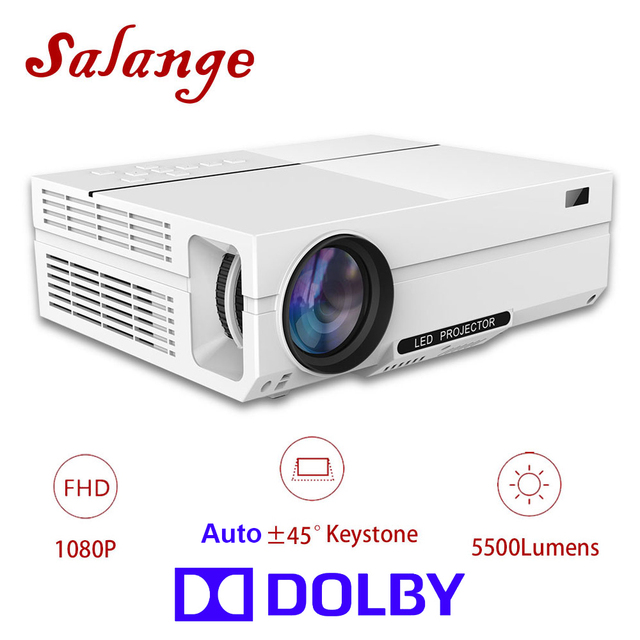 Salange T26K Led Projector Full HD Projetor 5500 Lumens Home Theater Proyector,HDMI VGA USB,1080P Movie Beamer