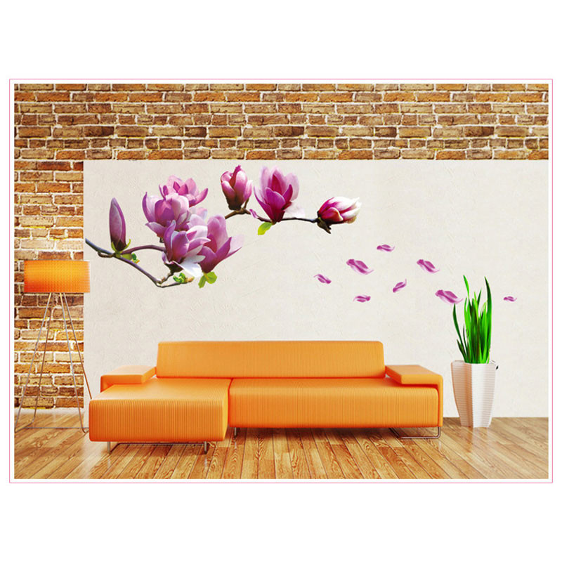 HTB1B4Z2KFXXXXa XFXXq6xXFXXXd - 1PCFlower Wall Sticker 3D Vinyl Wall Decals Living Room Home Decor Bedroom Poster Wall Stickers Decorative Accessories Wallpaper