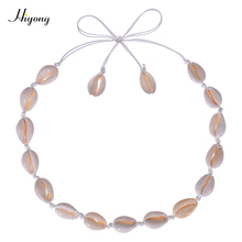 HIYONG  Nature Shell Necklace Choker Bohemia Cowrie Beaded Seashell Necklaces Summer Beach Jewelry for Women