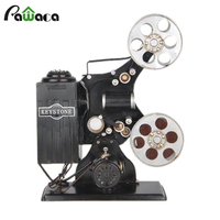 Europe Old fashioned Vintage Movie Projector Model Antique Imitation Bar Home Decoration Gifts Crafts Figurines Miniatures