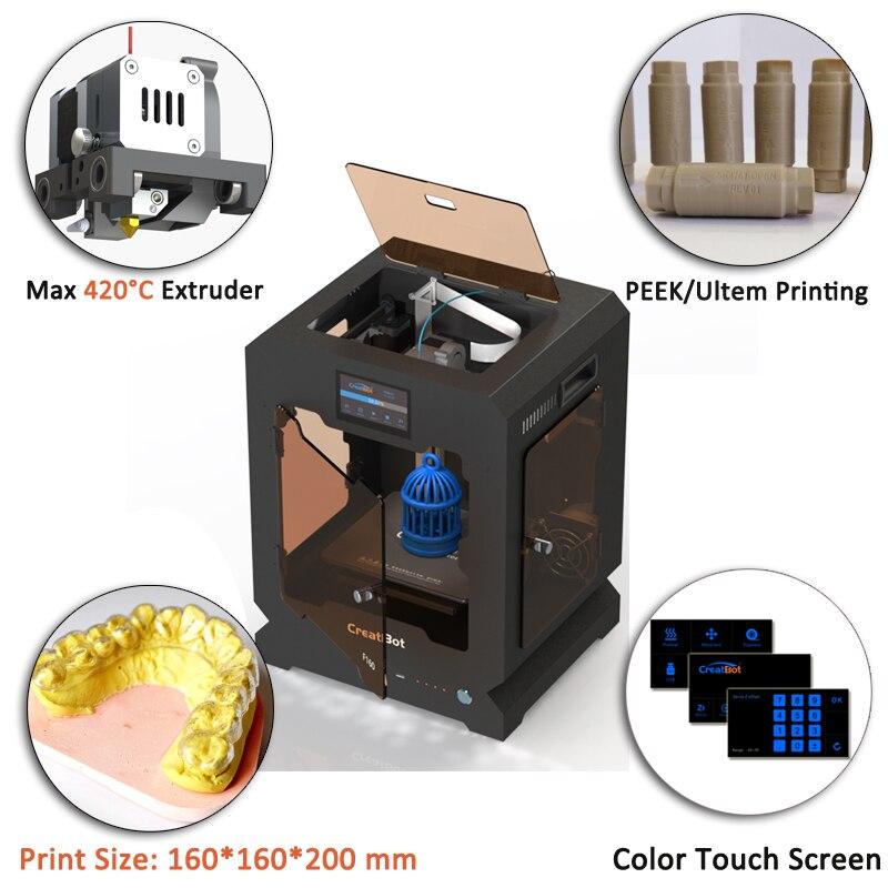 Creatbot 3D 프린터 고온 F160 엿보기 인쇄 기계 160 * 160 * - 사무용 전자 제품 - 사진 5