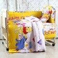 Promoção! 10 PCS conjuntos de cama berço para meninos colcha consolador berço ropa de cuna ( amortecedores de colchão + travesseiro )