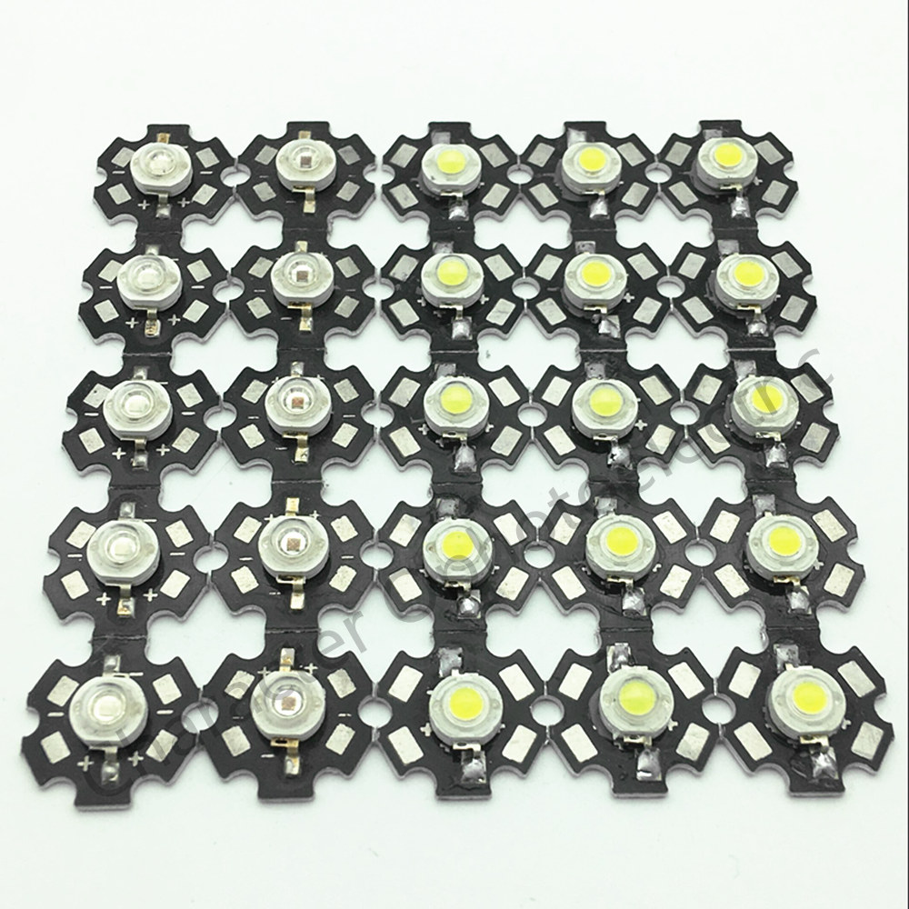 50pcs x 3W RGB LED Lamp 4pin High Power led Beads 350mA with 20mm star pcb