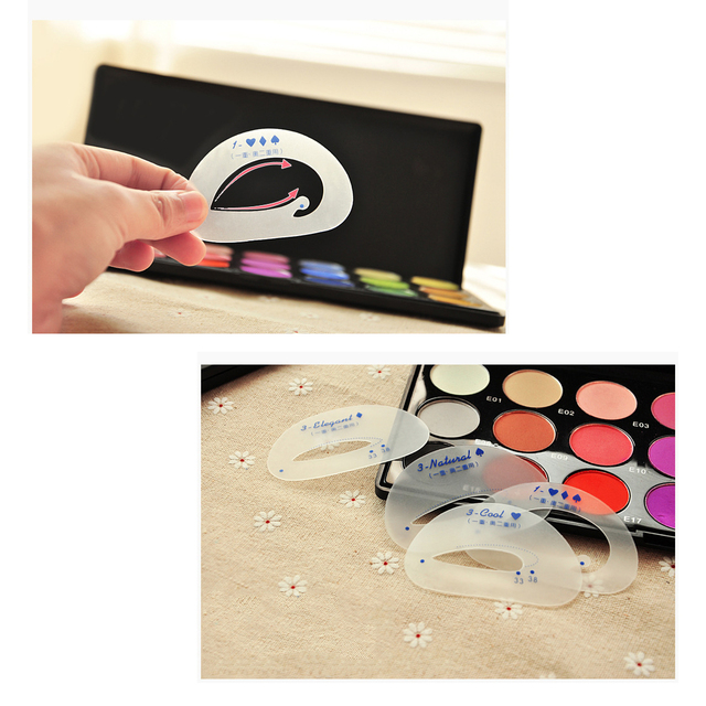 Eyeshadow Stencil 6pcs/set Cosmetic Groom Steps Model Easy Quick Make Up Shaping Guide DIY Beauty Tool Eyes Makeup Template Card 2