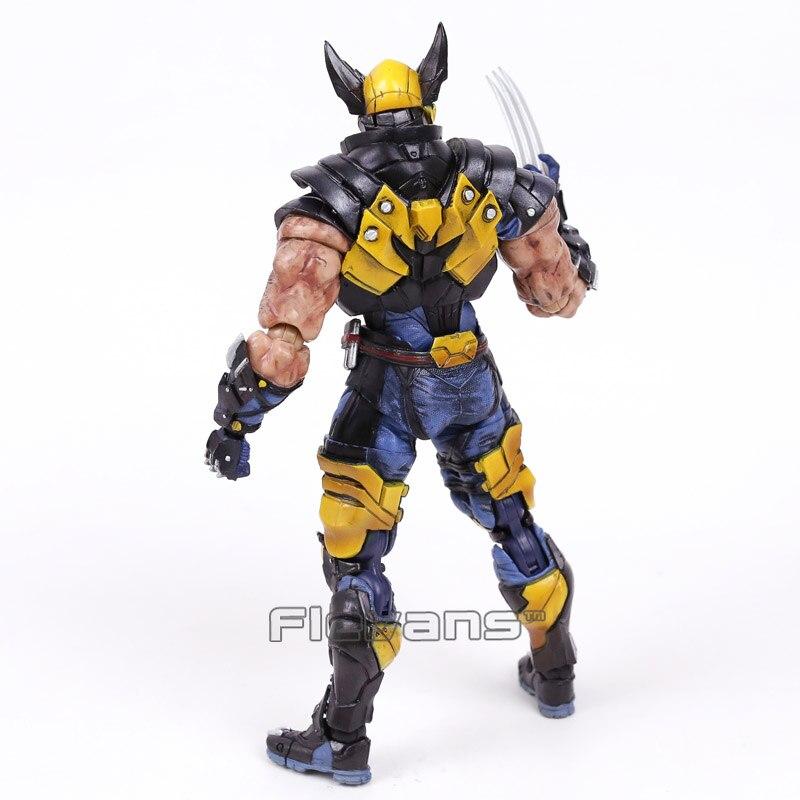 Play Arts Kai Marvel X-MEN Wolverine Logan PVC Action Figure 18