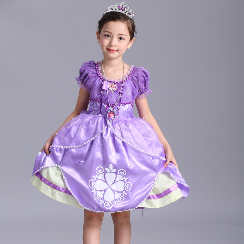 2016 children sophia baby cosplay sofia the first christmas dress princess costume kids for girls toddler christmas dresses tutu