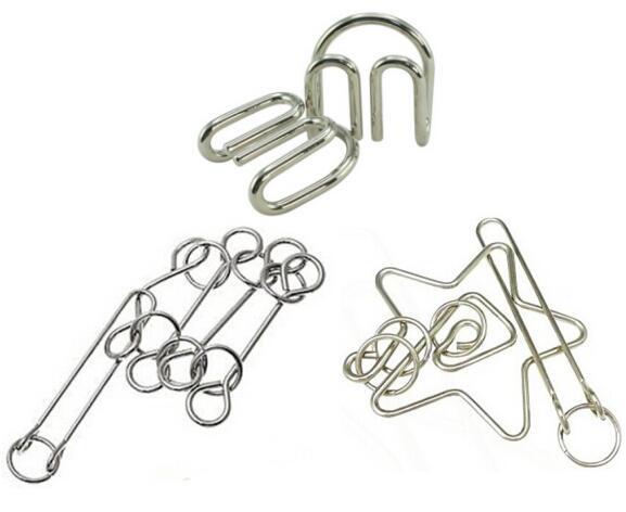 3PCS / Set IQ Magic Metal Wire Puzzle Tradicionalni obrazovni um - Igre i zagonetke - Foto 2
