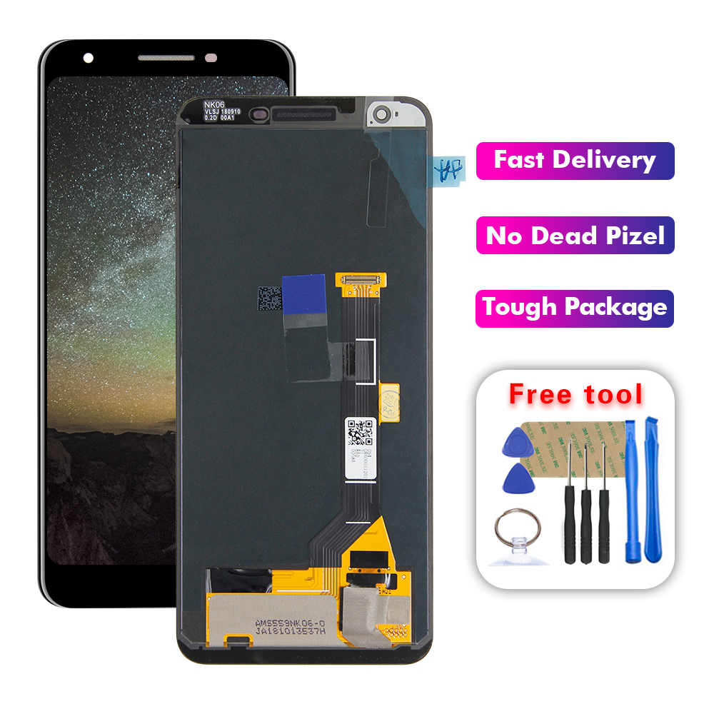 For 5.6 inch Google Pixel 3A LCD Display Screen Touch Digitizer Assembly Replacement Free Tools