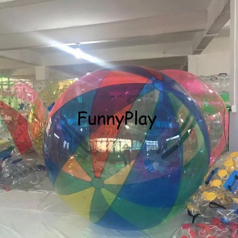 2M blau Wasser zu fuß Ball, Aufblasbare Wasser auf Ball, klar Spaziergang auf Wasser Luftballons Zorbing Huma festival tanzen bälle für zeigen - 4