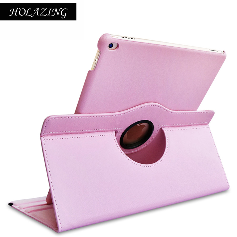 360 Degree Rotation Case For iPad Air PU Leather Stand Cover For iPadAir With Smart Auto On/Off Funda Coque for ipad air 2 case slim pu leather silicone soft back smart cover sturdy stand auto sleep for ipad air2 ipad 6 coque stylus