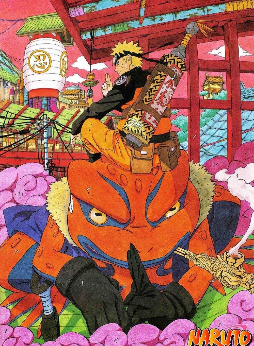 0869b Naruto Anime Del Giappone-autoadesivo Della Parete Di Seta Poster Luce Di Decorazione Della Tela Di Canapa