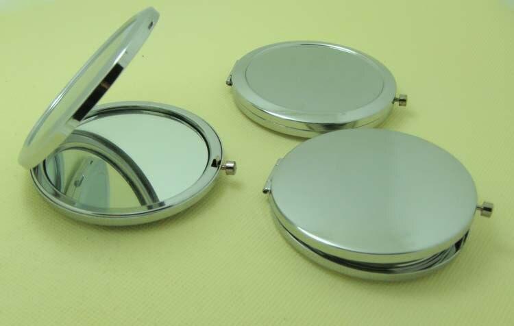 100 Pcs círculo branco Compact Makeup espelho
