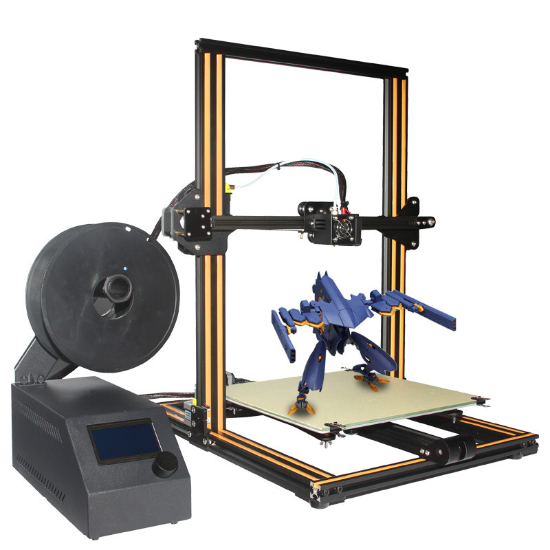 2017 Creality CR-10-plus Large Printing Size 400*400*400mm DIY Desktop 3D Printer Various Filament With Heated Bed Free Shipping new x5 desktop 3d printer big lcd display low decible diy 3d printers kit heated bed with 1 roll filament 8gb sd gifi