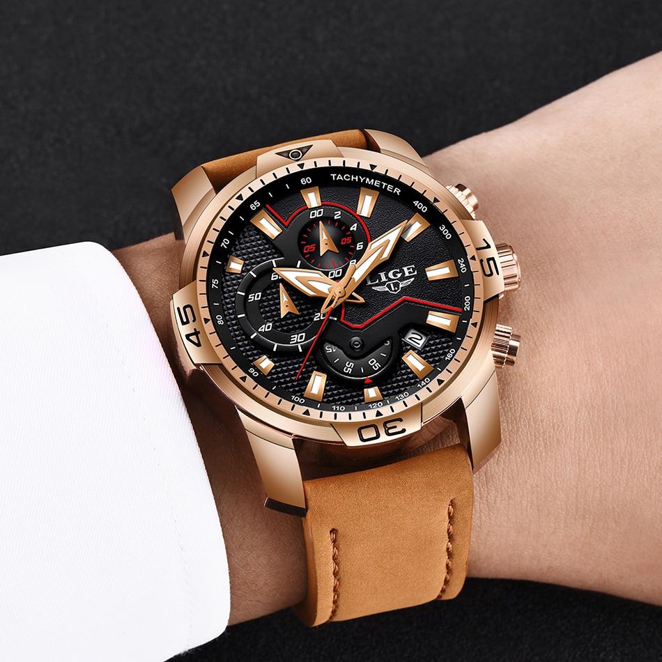 HTB1B4 GP4naK1RjSZFBq6AW7VXaW LIGE 2019 Fashion Men's Sport Watch Men Analog Quartz Watches Waterproof Date Military Multifunction Wrist Watches Men Clock+Box