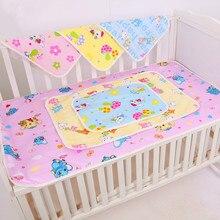 AMISSA, 3 цвета, хлопковые детские пеленки для пеленания, многоразовые детские подгузники, матрас, подгузники для новорожденных, водонепроницаемый коврик