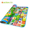 Baby Play Mat Game Activity Mat Double Faced Educational Crawling Mat Letter & Animal Pattern Play Gym Rug Carpet 200*180cm
