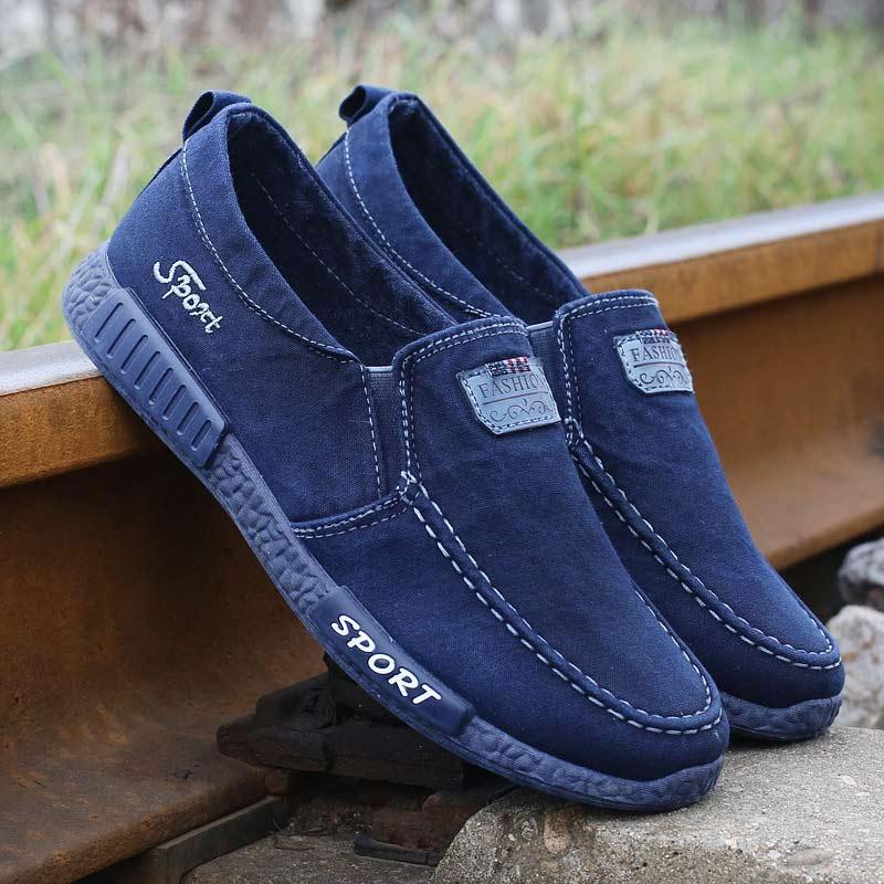 218 blue Slip on