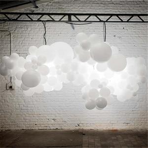 Image 3 - 100 ADET LED düğün parti balonlar beyaz glow aniversario