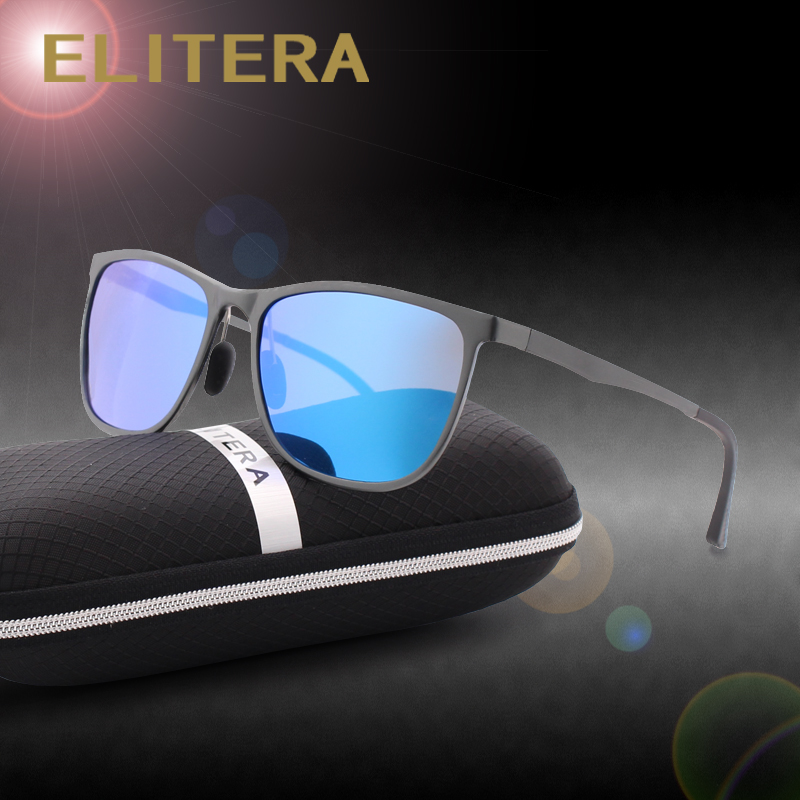 ELITERA Aluminum Magnesium Sunglasses Polarized Sports Men Coating Mirror Driving Sun Glasses oculos Male Eyewear Accessories