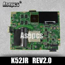 Asepcs K52JB carte mère D'ordinateur Portable pour ASUS K52JB K52JE K52JR K52JC K52JT K52J A52J X52J Test carte mère d'origine K52JR REV2.0