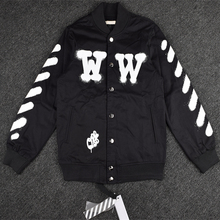 2016 new fashion Off white Justin Bieber gd TOP High quality WW twill medium-long jacket outerwear men clothing