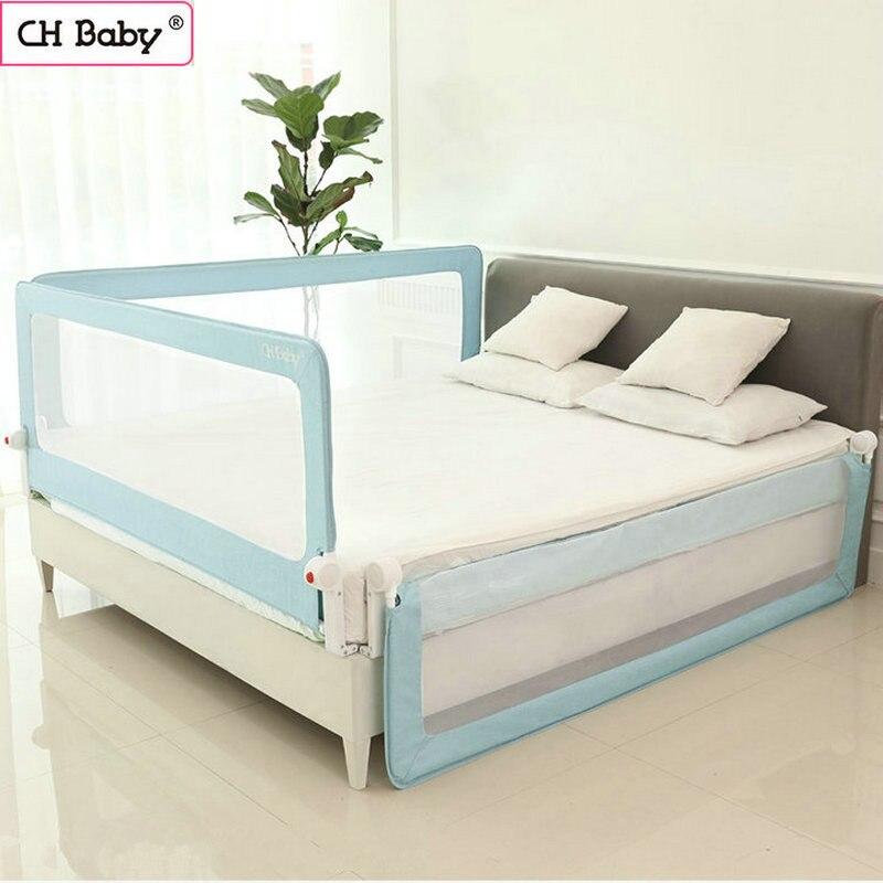 CH bébé 70 cm renforcer lit barrière de sécurité, barrière de lit de tuyaux en acier, ajustement pour général lit 150 cm/180 cm/200 cm lit protecteur protecteur