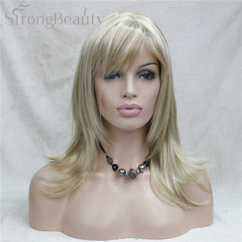 StrongBeauty Girl Synthetic Naturally Wave Long Hair Red Brown Cosplay Full Wigs For Women 5 Color