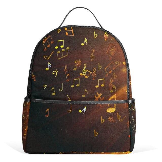 8098b2bd7662b Muzyka Nuty Płótno Plecak Plecak W Stylu Vintage Torby Laptopa Plecak  Szkolny dla Dziewczynek i Chłopców