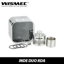 Original Wismec Inde Duo RDA Atomizer 30mm Diameter Large Build Deck Airflow Control Rebuildable Heating Coil INDEDUO Tank