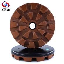 RIJILEI 200mm Resin Bond Diamond Grinding Plate 8inch Marble Discs Polishing pad for Concrete Granite YG30