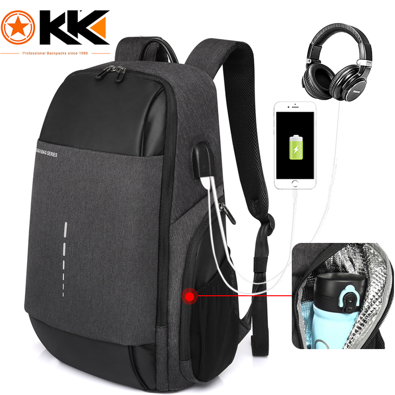 Kaka Rugzak Usb Charging Men Backpack 15.6inch Laptop Backpack Male Waterproof Schoolbag Backpacks For Teenagers Mochila