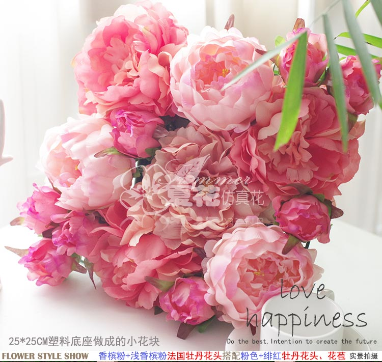25cm25cm artificial silk pink fuchsia peony flower wall wedding 25cm25cm artificial silk pink fuchsia peony flower wall wedding decoration home decor party flowers wall background deor in artificial dried flowers from mightylinksfo