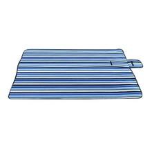 Extra Large Picnic Blanket Rug Mat Waterproof Rug Travel Camping Beach Kids Baby  Blue Stripe