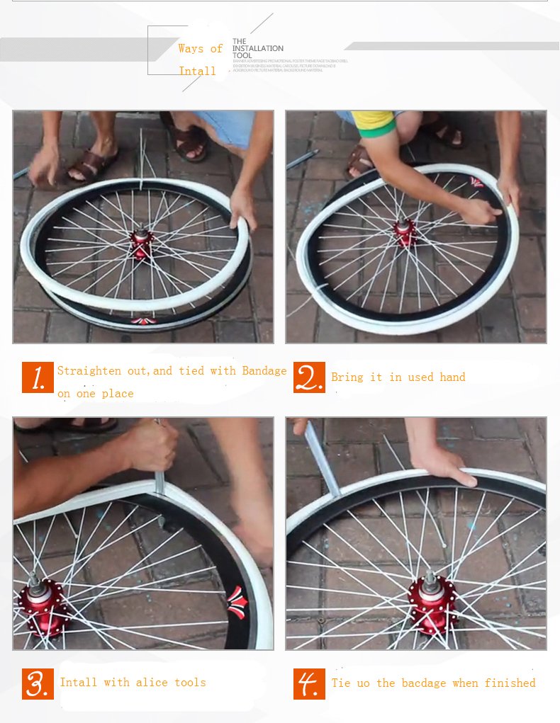 1 X Fixed Gear Solid Tires Inflation Free Never Flat Bicycle Tires 700C x 23CR