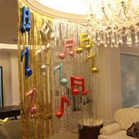 3m 1m Metallic Foil Fringe Door Rain Curtains Party Christmas Wedding Photo Booth Props Marriage Gathering